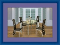 Glass dining table with 4 chairs Adelphi