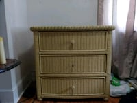 brown wicker 3-drawer chest Charles Town, 25414