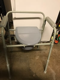 Toilet chair and raised toilet seat