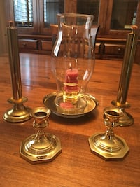 Brass Candlestick Holders Lot
