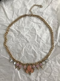 Necklace with Pink and Clear Jewels Toronto, M6J 0B3