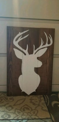 Hand Crafted Wood Deer Painting