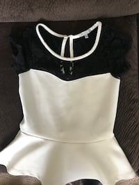 White and black spaghetti strap top Bellingham, 98225