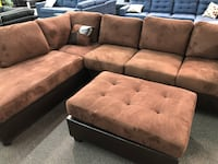 New Couch Sectional. Chocolate. Free Delivery ! Buena Park