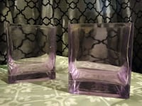 "2 square 4""x5""  glass vases Bakersfield, 93304"