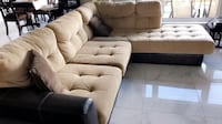Brown and grain colour sectional sofa set Beaumont, T4X