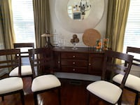 Dark Wood Buffet Table with 6 Chairs Ashburn, 20148
