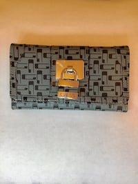 Genuine Guess trifold wallet - grey