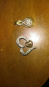 gold and diamond encrusted earrings 114 mi