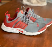 Red/White Nike Prestos - Size 9