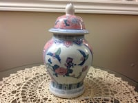 Beautiful vase white ,pink and blue ceramic grate conditions hight 28 cm no chips or scratches like brand new Hamilton, L8W