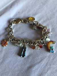 Girl charm bracelet 70s vibe peace and love charms Forest Park, 60130