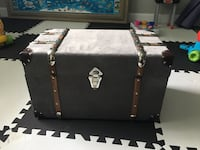 Grey Velvet storage Chest.