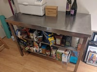 Stainless Table Island Shelf Workbench