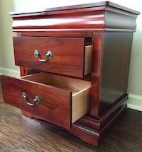 2 New Cherry Nightstands Silver Spring