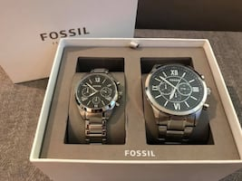 BQ2146SET - Fossil His and Her Chronograph Watch Gift Set