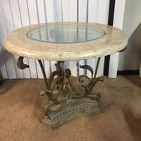 Marble topped glass table  Girard, 44420