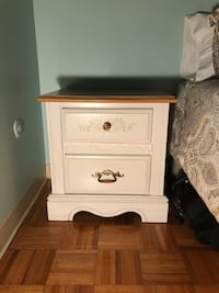 white wooden 2-drawer nightstand Quincy, 02169