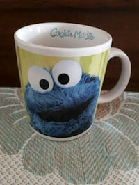 Cookie Monster mug.  Whitby, L1P 1A1