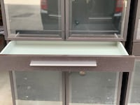 Glass cabinets with drawer