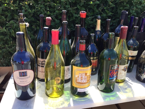 Used Large Assorted Wine And Beer Bottles 3l 6l Display Man Cave