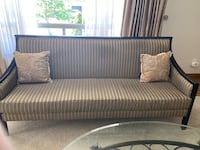 Stunning Satin gold striped sofa/couch