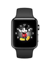 black aluminum case Mickey Mouse Apple Watch with black sports band Toronto, M9N 2A4