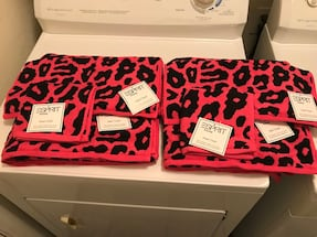 BRAND NEW LEOPARD TOWEL SET WITH TAGS (6 PIECES)