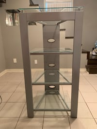 4 level entertainment system stand