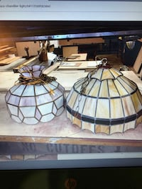 two beige and grey pendant lamps screengrab