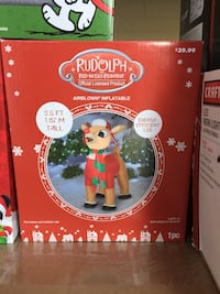 Rudolph Red Nosed Reindeer Inflatable