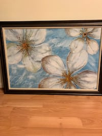White and blue flowers painting 24 km