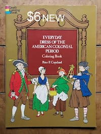 Everyday Dress Of The American Colonial Period Coloring Book Martinsburg, WV, USA