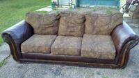 brown and black floral fabric 3-seat sofa Edmonton, T5G 1Z2
