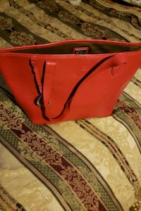 red and black leather bag Lansing, 48910