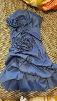blue strapless mini dress Winnipeg, R3M 2C6