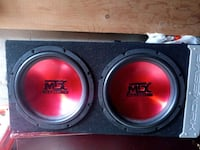 "Black & Red 12 "" MTX Subwoofer  Vaughan, L4H 2X9"
