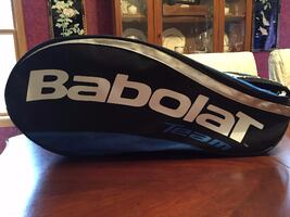 """Great gift item! Mint! See all pics. """"BABOLAT TEAM 12"""" TENNIS BAG $50"""
