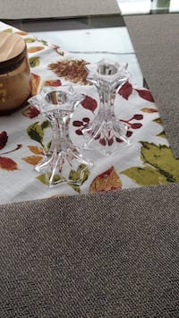 Crystal candle holders  Cambridge, N3H 4A8