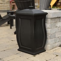 Mansfield Black Trash Can/Storage Bin