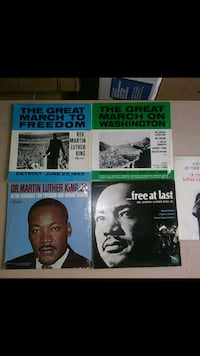 Vintage Martin Luther King's LP records