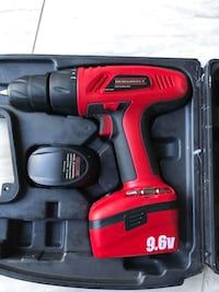 Red and black durabuilt cordless power drill kit Sterling, 20164