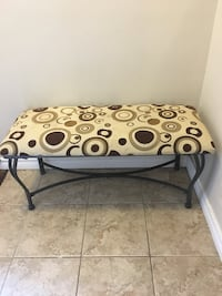 black and brown floral padded ottoman Dundas, L9H