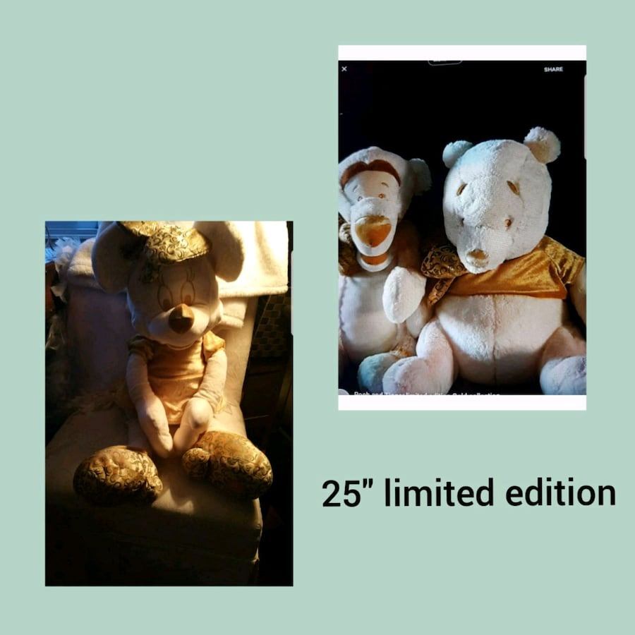 Limited edition Disney Gold collectibles.