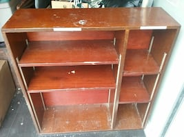 Solid wood vintage bookshelf