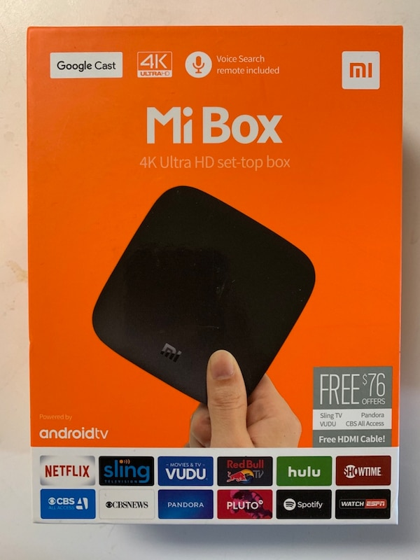 Mi TV Box 4k with built in chrome cast - YouTube, Netflix