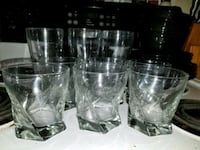 3 normal size glasses, 8 small glasses Radcliff, 40160