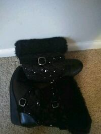 black leather fur-lined snow boots Norfolk, 23513