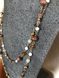 brown and white beaded necklace Oro Valley, 85755