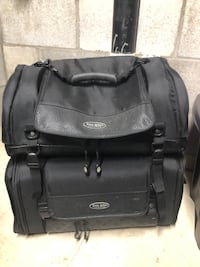 Double luggage bags for motorcycle